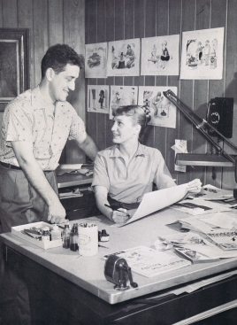 Stan and Jan in studio, late 1950s