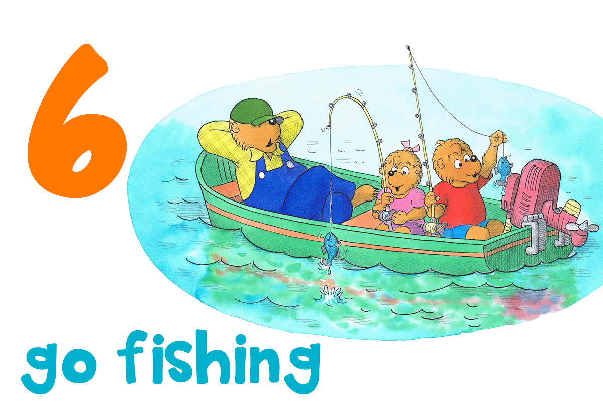 6. go fishing