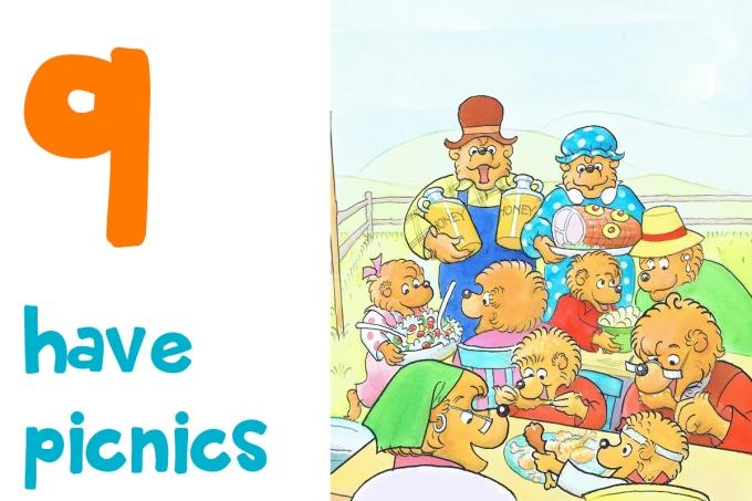 9. have picnics