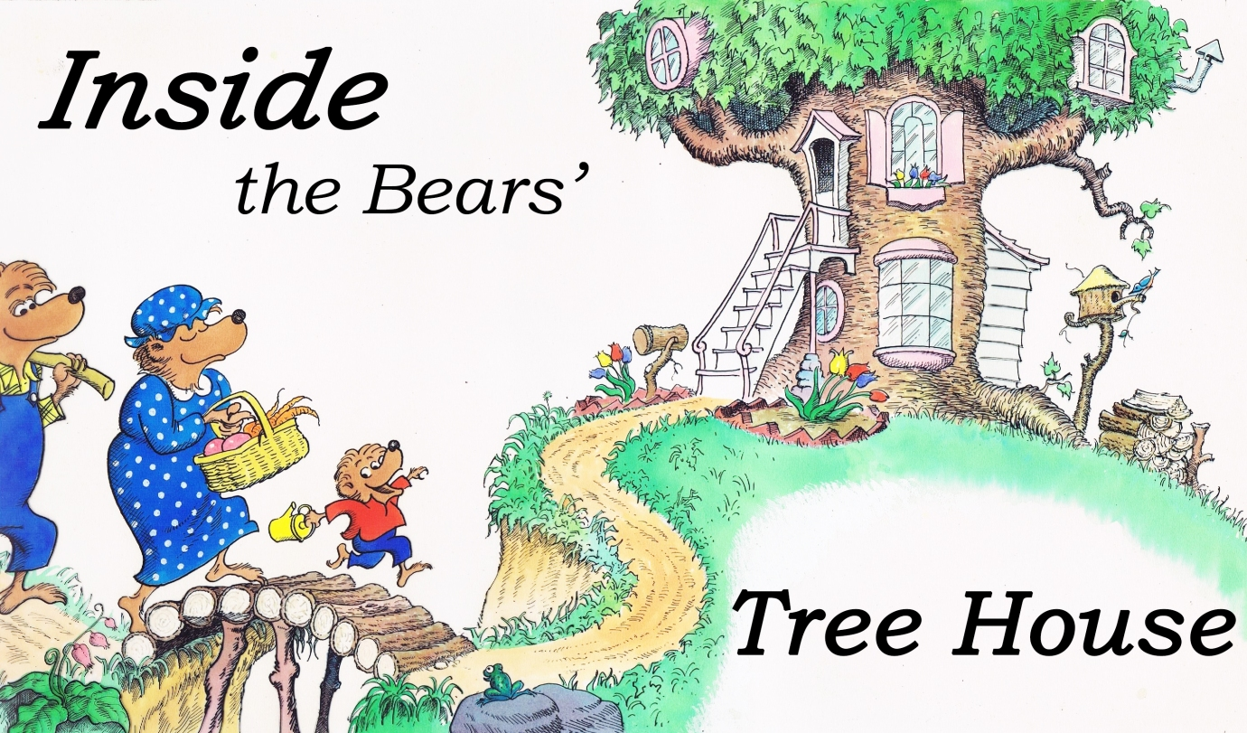 Inside The Bear Family Tree House The Berenstain Bears Blog Inside view of big cartoon house with different rooms. inside the bear family tree house the