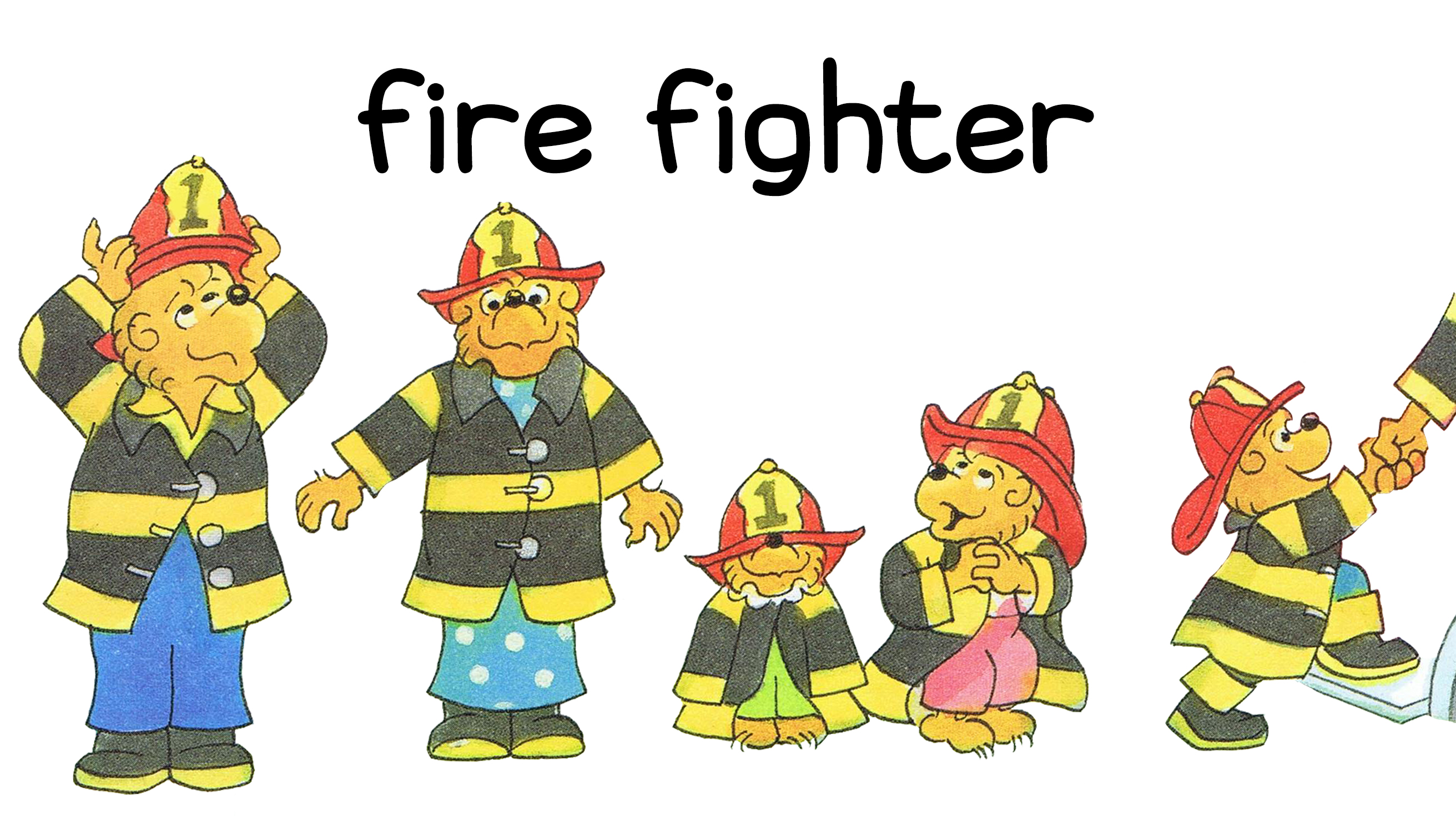 Berenstain Halloween Costumes Fire Fighters